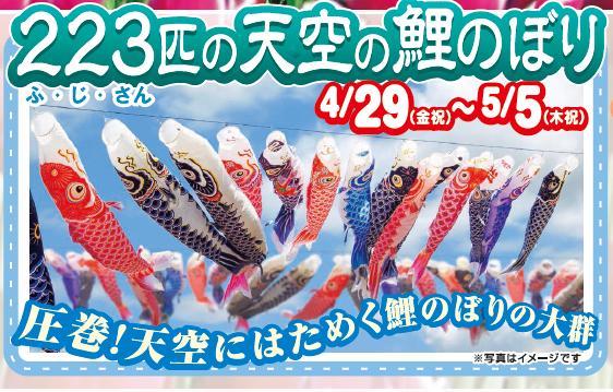 天空の223匹の鯉のぼり